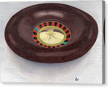 Roulette Wheel Canvas Print by Bav Patel