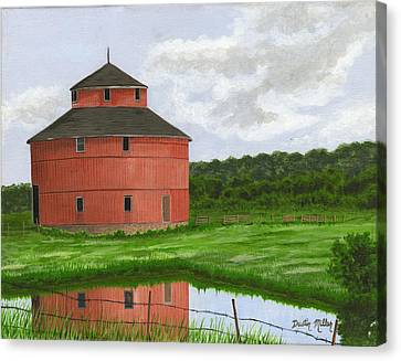 Round Barn Canvas Print
