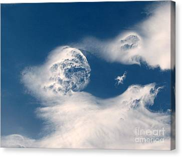 Round Clouds Canvas Print by Leone Lund