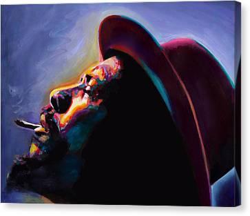 Round Midnight Thelonious Monk Canvas Print by Vel Verrept