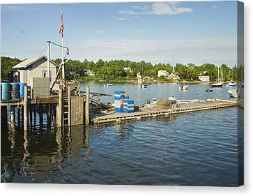 Round Pond On The Coast Of Maine Canvas Print by Keith Webber Jr