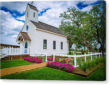 Round Top Chapel Canvas Print by Allen Biedrzycki