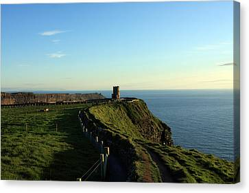 Round Tower On The Cliffs Of Moher Canvas Print by Aidan Moran