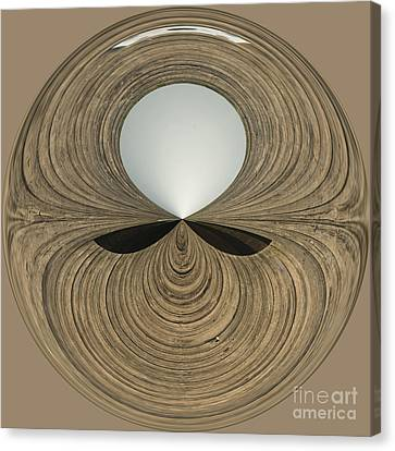 Round Wood Canvas Print by Anne Gilbert