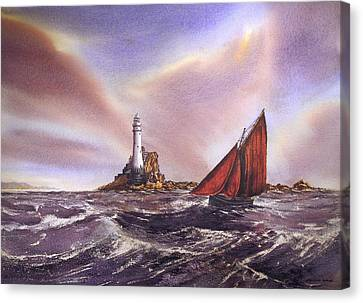Canvas Print - Rounding The Fastnet by Roland Byrne