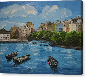 Roundstone Harbour Connemara Ireland Canvas Print by Diana Shephard