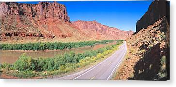 Route 128, Colorado River, View Canvas Print by Panoramic Images