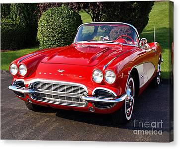 Route 66 - 1961 Corvette Canvas Print