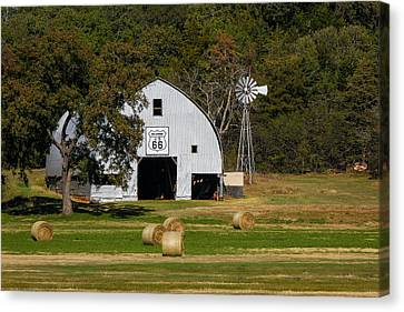 Route 66 Barn Canvas Print by Doug Long
