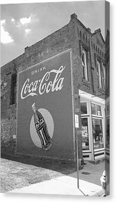 Route 66 - Coca Cola Mural Canvas Print by Frank Romeo