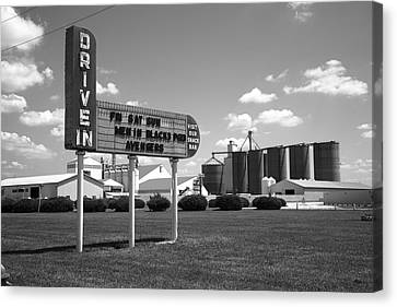Route 66 Drive-in Theater Canvas Print by Frank Romeo