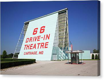 Route 66 Drive-in Theatre Canvas Print by Frank Romeo
