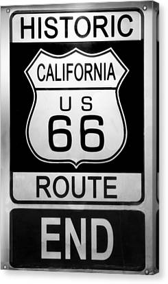 Route 66 End Canvas Print by Chuck Staley