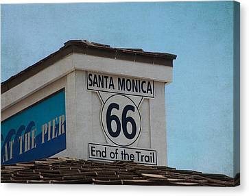 Route 66 - End Of The Trail Canvas Print