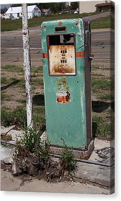 Out-of-date Canvas Print - Route 66 Gas Pump - Adrian Texas by Frank Romeo