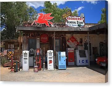 Route 66 - Hackberry General Store Canvas Print by Frank Romeo