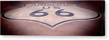 Route 66 In Brick  Canvas Print