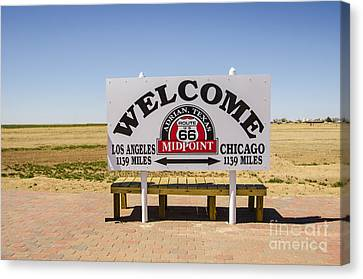 Route 66 Midpoint Sign Adrian Texas Canvas Print
