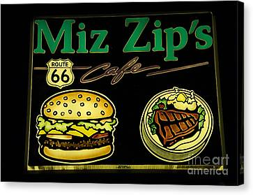 Route 66 Miz Zips Canvas Print by Bob Christopher