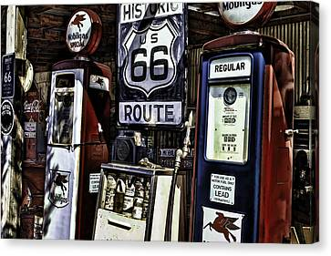 Canvas Print featuring the painting Route 66 by Muhie Kanawati