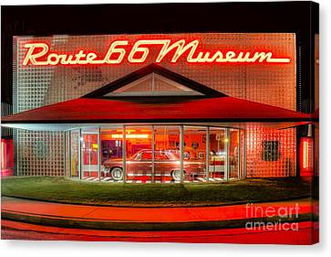 Route 66 Museum Canvas Print by Twenty Two North Photography
