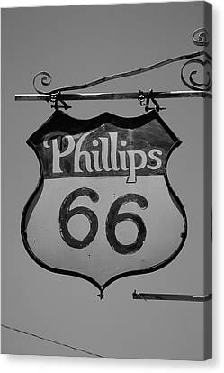 Route 66 - Phillips 66 Petroleum Canvas Print by Frank Romeo