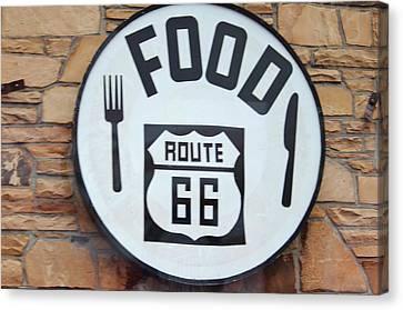 Route 66 Restaurant  Canvas Print by Cynthia Guinn