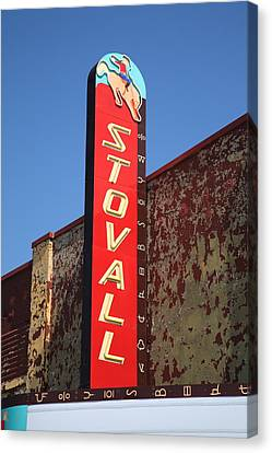 Route 66 - Stovall Theater Canvas Print by Frank Romeo