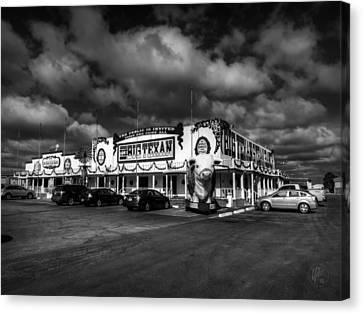 Route 66 - The Big Texan 003 Bw Canvas Print by Lance Vaughn