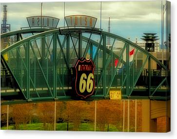 Route 66 Polaroid - Large Format - No Transfer Border Canvas Print by Tony Grider