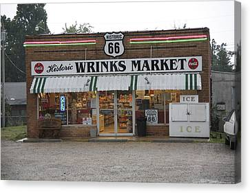 Route 66 - Wrink's Market Canvas Print by Frank Romeo