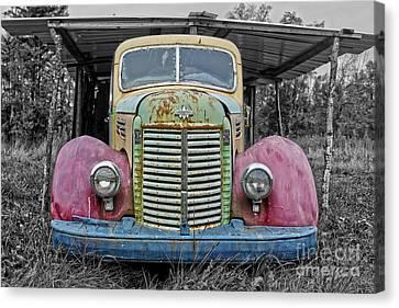 Canvas Print featuring the photograph Route 9 Truck by Sebastian Mathews Szewczyk