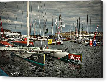 Canvas Print featuring the photograph Route Du Rhum Ready by Elf Evans