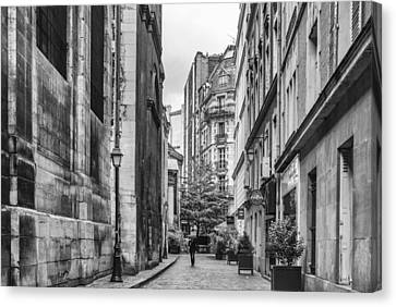 Route Parisian Canvas Print