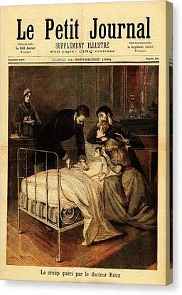 Roux Treating Croup Canvas Print by National Library Of Medicine