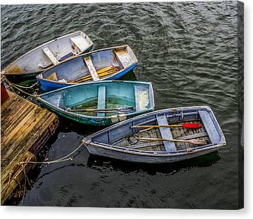 Row Boats At Dock Canvas Print