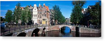 Row Houses, Amsterdam, Netherlands Canvas Print by Panoramic Images