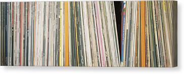 Row Of Music Records, Germany Canvas Print