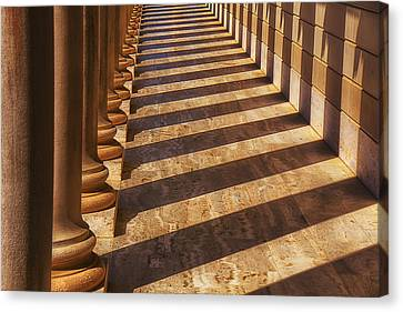 Row Of Pillars Canvas Print by Garry Gay