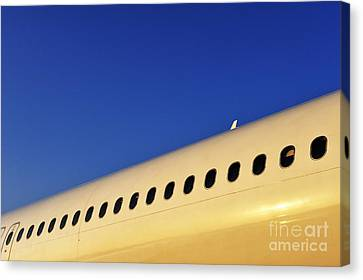Row Of Portholes By Clear Sky  Canvas Print