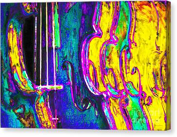 Row Of Violins - 20130129v2 Canvas Print by Wingsdomain Art and Photography