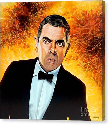 Thin Canvas Print - Rowan Atkinson Alias Johnny English by Paul Meijering