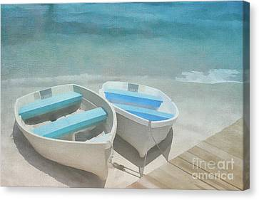 Rowboat Blues Canvas Print by Jayne Carney
