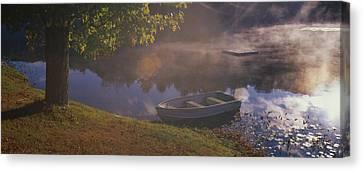 Rowboat Lake Nh Canvas Print