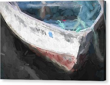 Rowboat Canvas Print - Rowboat Painterly Effect by Carol Leigh