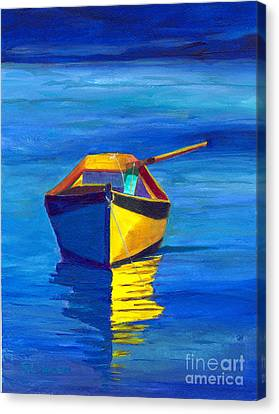 Rowboat Canvas Print by Sandy Linden