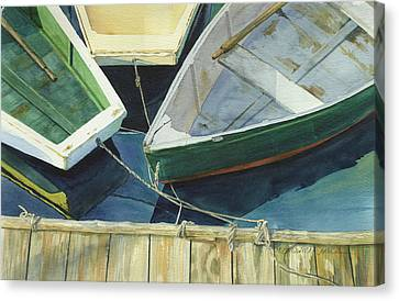 Rowboat Canvas Print - Rowboat Trinity II by Marguerite Chadwick-Juner