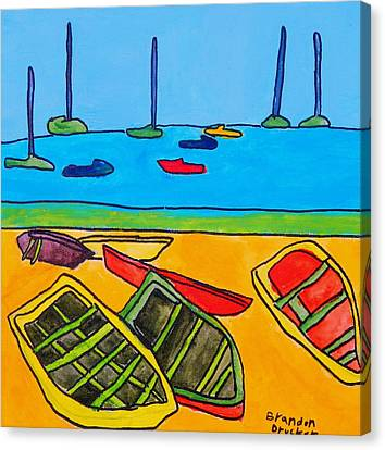 Rowboats Canvas Print by Artists With Autism Inc