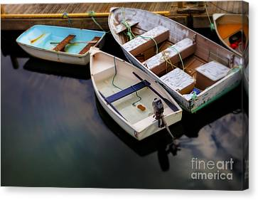 Rowboat Canvas Print - Rowboats by Diane Diederich