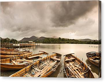 Rowboats On Derwentwater, Lake District Canvas Print